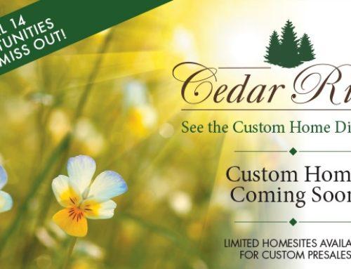 New Custom Ranch Homes Coming Soon